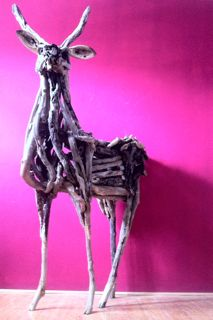 Driftwood Kudu by Bryan Cusack. Made from driftwood gathered in Zululand.