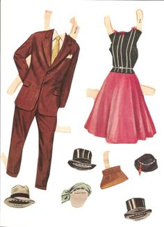 Bridal Party Paper Dolls This set of bridal party paper dolls are a boxed set of Whitman's from, I believe, 1955.