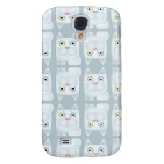 Cat Ice-Blue Modern Icon Phone Case Samsung Galaxy S4 Covers