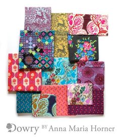 DOWRY Charm Pack by Anna Maria Horner fabric by PatternCrush, $9.50