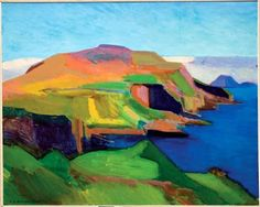 'Ships leaving Harbour' - Sámal Joensen Mikines Sámal Joensen-Mikines was a Faroese painter. He was the first recognised painter of the Faroe Islands and one of the Faroe Islands. Faroe Islands, Cubism, Still Life, Pop Art, Abstract Art, Surfing, Painting, Landscapes, Image