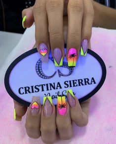 Colourful Acrylic Nails, Diy Acrylic Nails, Pastel Nails, Get Nails, Love Nails, Hello Nails, Queen Nails, Dream Nails, Bling Nails
