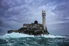 Breathtaking Photos Of Lighthouses. Lighthouse of Fastnet Rock, Ireland Stormy Waters, Photo Voyage, Lighthouse Pictures, Images Of Ireland, Lighthouse Keeper, Monuments, Strand, Landscape Photography, Scenery