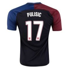 dab22c44f Christian Pulisic 17 2016 17 Black Away Soccer Jersey Football Shirt  Camiseta De Fútbol Trikot Maglia