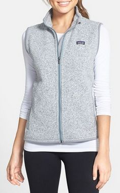 Patagonia's 'Better Sweater' Vest   http://www.patagonia.com/us/product/womens-better-sweater-fleece-vest?p=25885-0-BCW