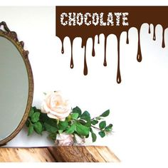 Chocolate Splash Kitchen Cafe Bar Decor Home Decor Vinyl Art Wall Decor Nursery Room Decor Sticker Decal size 33x39 Color