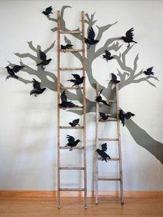 IDEAS & INSPIRATIONS: Cool Indoor Halloween Decorations - Halloween Decorating Ideas #retaildetails