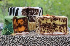 How to make a tiger, zebra, & leopard cake by Sweet Dreams
