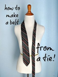 How to Make a Belt from an Old Tie - Crafty Little Gnome