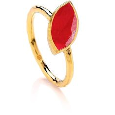 Dione London - Nova Ruby Marquise Off Set Stone Stacking Ring ($83) ❤ liked on Polyvore featuring jewelry, rings, ruby heart jewelry, ruby jewelry, ruby heart ring, heart shaped ruby ring and heart shaped rings