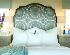 cool headboard. also, this website is awesome for home decorating ideas, (awesome as in 'similar to pinterest') www.houzz.com