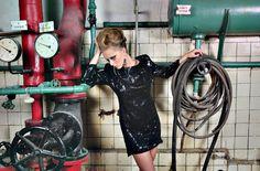 dress Gabriela Hezner fashion coctail dress , little black dress  fot. Darek Stawski SHOP  http://www.mustache.pl/marki/gabriela-hezner