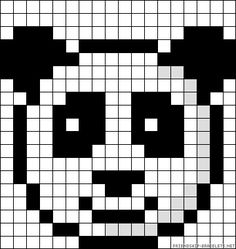 black and white pixel art - - Image Search Results Bead Loom Patterns, Perler Patterns, Beading Patterns, Cross Stitch Patterns, Beading Ideas, Hama Beads Animals, Beaded Animals, Pixel Art Templates, Perler Bead Templates