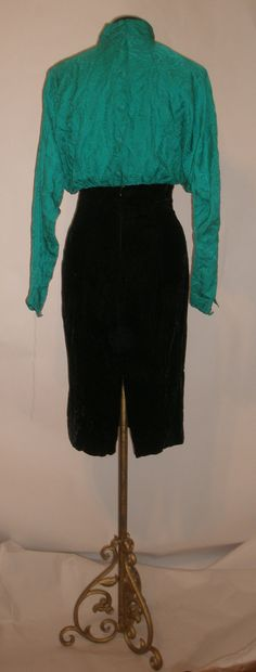 SUMMER CLEARANCE SALE Chic Black Velvet & by VintageClothes4U