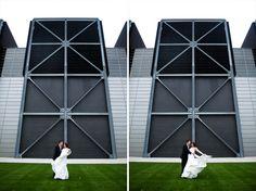Modern Milwaukee Wedding Photographer – Harley Chrome – Grace Church – Karie and Matt