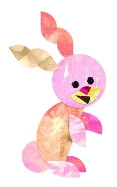 Roylco Fraction Friend Mosaics - Bunny Artwork Design
