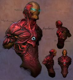 """Geek Art: Iron Man Monster ConceptDesign – Awesome. Who knew Iron Man could be so fearsome looking. Would love to see the """"What if..."""" story come to life."""