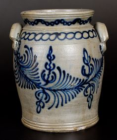 B.C. MILBURN / ALEXA (Alexandria, VA) Profusely-Decorated Stoneware Jar