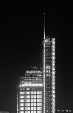Heron Glow; A tight crop of the top of the Heron Tower