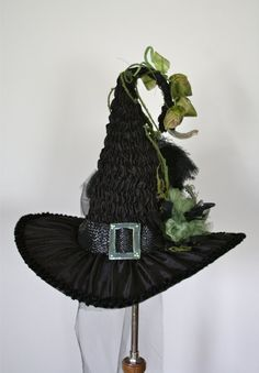 Beautiful Victorian Witches Hat by Studio Sisu Moss by StudioSisu
