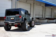 I'm kinda liking the spare tire delete......Bucknasty's Jeep Wrangler Rubicon 10th Annv. on American Force Wheels!