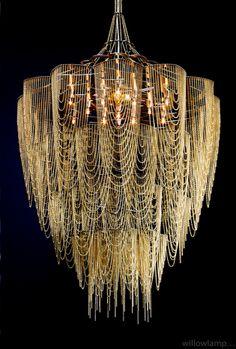 // Illuminated Light Sculpture by Willowlamp