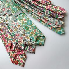 Packing up a custom order of lots of lovely Liberty Betsy design ties to go to New York for a July wedding