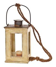 Yellow & Brown Candle Lantern