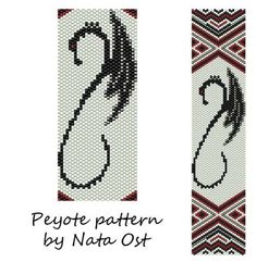 Beading Peyote Pattern Stitch Bracelet Dragon Seed Bead by NataOst