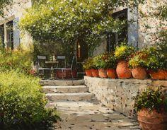 Jeremy Barlow - Terrace plan de latour Provence.