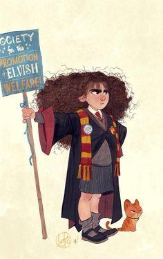 """Hermione Jean Granger"" by Cory Loftis* • Blog/Website | (www.coryloftis.tumblr.com) #harrypotter #hermionegranger"