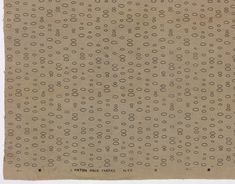 Joel Robinson. Oval Elements (II) (Drapery fabric). 1954-55 Moma Collection, Printed Linen, Drapery Fabric, Art Inspo, Textiles, My Love, Prints, Fabrics, Textile Art
