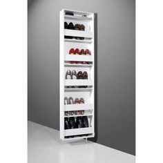 Buy Germania White Rotating Cabinet - 10 Pairs from - the UK's leading online furniture and bed store Shoe Storage Mirror, Shoe Rack With Mirror, Wall Mounted Shoe Storage, Hallway Storage, Shoe Storage Cabinet, Cabinet Decor, Storage Cabinets, Slim Shoe Cabinet, Slim Shoe Rack