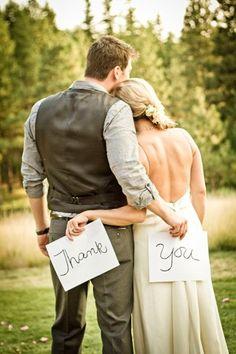 Wedding thank you photo ideas | YouAndYourWedding
