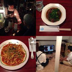 居心地がよすぎる… #なんであのときカフェ  #なんであのとき放送局 #なんであのときパスタ #牛スジ煮込み #日本酒自爆 #マリオカート #テトリス #ファミスタ