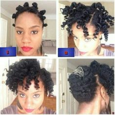 Bantu knot out style