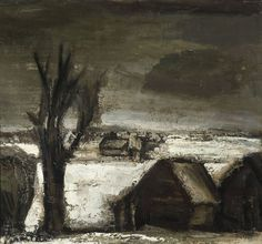 Snowy Landscape  by Constant Permeke (1886-1952)