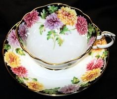 Paragon Chrysanthemum Bright Tea cup and saucer