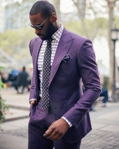 Online Shop Purple Peaked Lapel Two Buttons men wedding suits 2 Pieces Custome Homme Blazer Terno Slim Fit smoking mens suit (Jackets+Pants) Mens Fashion Blog, Mens Fashion Suits, Mens Suits, Men's Fashion, Black Men In Suits, Fashion Black, Suit Men, Fashion Women, Winter Fashion