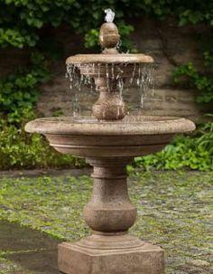 Stone Garden Fountains, Concrete Fountains, Outdoor Fountains, Fountain Garden, Fountain Ideas, Garden Ponds, Water Fountain Design, Small Fountains, Koi Ponds