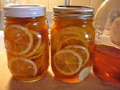 The Hidden Pantry: Meyer Lemons in Honey