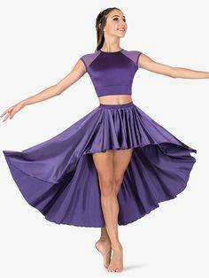 795ebe181fe2 Double Platinum Womens Performance Satin High-Low Skirt Gymnastics Costumes,  Dance Costumes Lyrical,