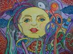 psychedelic moon - Google Search