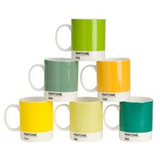 Sip in style with these PANTONE-inspired mugs. Made from fine bone china, each set contains six colorful mugs. Dishwasher safe and microwave proof.    Mixed Yellows & Greens: 569C, 376C, 1225C, 585C, 624C, Yellow C