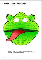 Masker Kameleon gekleurd