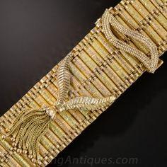 18K Two-Tone Gold Fringe Bracelet