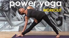 Power Yoga Workout - Simple, Strong Cardio Flow ♆ - YouTube  #heartalchemyyoga #michellegoldsteinyoga