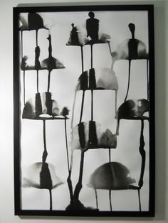 Umbrella Day - Original Black and White Modern Abstract Ink Wash Painting / http://www.etsy.com/shop/Manjuzaka