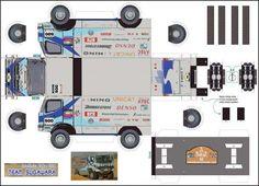 Truck Paper Model Papercraft   2005 hino n500 - Maquette Dakar