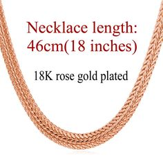 Unique 18K Gold/Platinum Plated Snake Chain Necklace